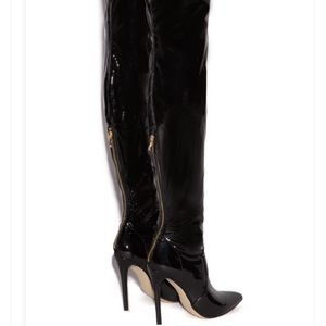 Shoedazzle Thigh High Patent Leather Boots